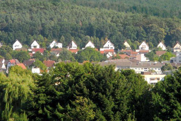 Toller Blick auf das Stadtteil Grübentälchen in Kaiserslautern
