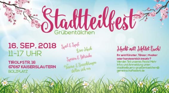 Das nächste Stadtteilfest Grübentälchen findet 2018 statt