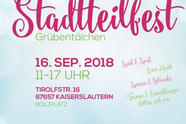Poster des Stadtteilfests Grübentälchen