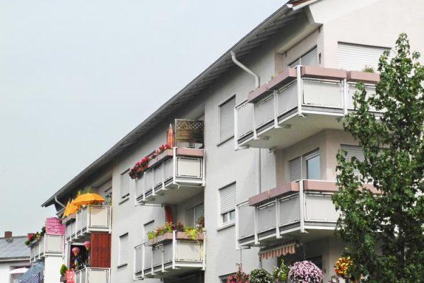 Wohnhäuser im Stadtteil Grübentälchen in Kaiserslautern